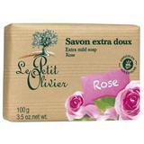 Sapun Vegetal cu Extract de Trandafir Le Petit Olivier, 100g