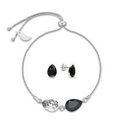 Set Fancy Black & White - Queen Stone