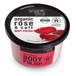 Exfoliant Corporal cu Sare si Extract de Trandafir Pearl Rose Organic Shop, 250ml de la esteto.ro