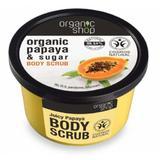 Exfoliant Corporal cu Zahar si Extract de Papaya Juicy Papaya Organic Shop, 250ml