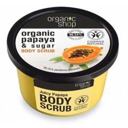 Exfoliant Corporal cu Zahar si Extract de Papaya Juicy Papaya Organic Shop, 250ml