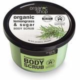 Exfoliant Corporal cu Zahar si Ulei de Lemongrass Provence Lemongrass Organic Shop, 250ml
