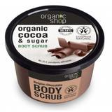 Exfoliant Corporal cu Zahar si Unt de Cacao Belgian Chocolate Organic Shop, 250ml