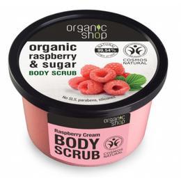 Exfoliant Corporal cu Zahar si Extract de Zmeura Raspberry Cream Organic Shop, 250ml de la esteto.ro