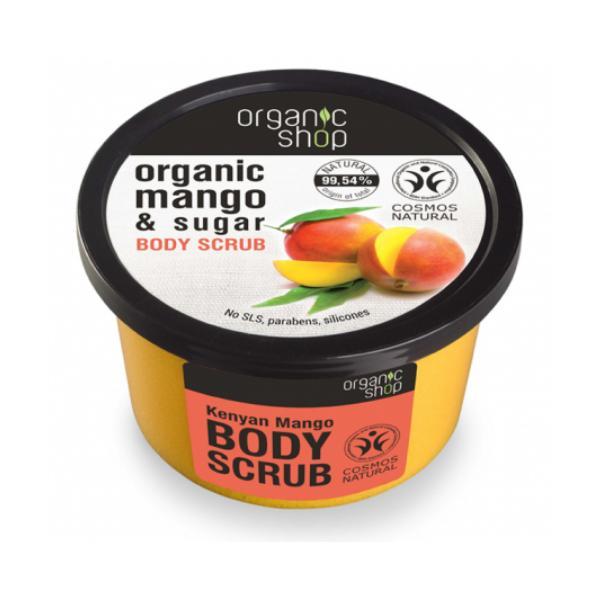 Exfoliant Corporal cu Zahar si Extract de Mango Kenyan Mango Organic Shop, 250ml imagine produs