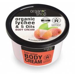 Crema Corporala cu Extract de Litchi si 5 Uleiuri Pink Lychee Organic Shop, 250ml de la esteto.ro
