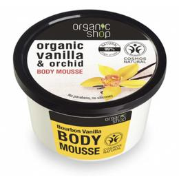 Mousse Corporal cu Extracte de Vanilie si Orhidee Bourbon Vanilla Organic Shop, 250ml
