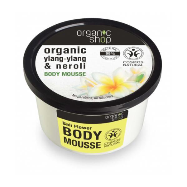 Mousse Corporal cu Extracte de Neroli si Ylang-Ylang Bali Flower Organic Shop, 250ml esteto.ro