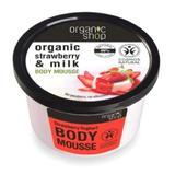 Mousse Corporal cu Extracte de Capsuni si Lapte Strawberry Yoghurt Organic Shop, 250ml