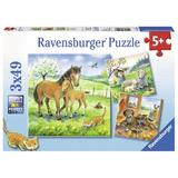 Puzzle animale si pui, 3x49 piese - Ravensburger