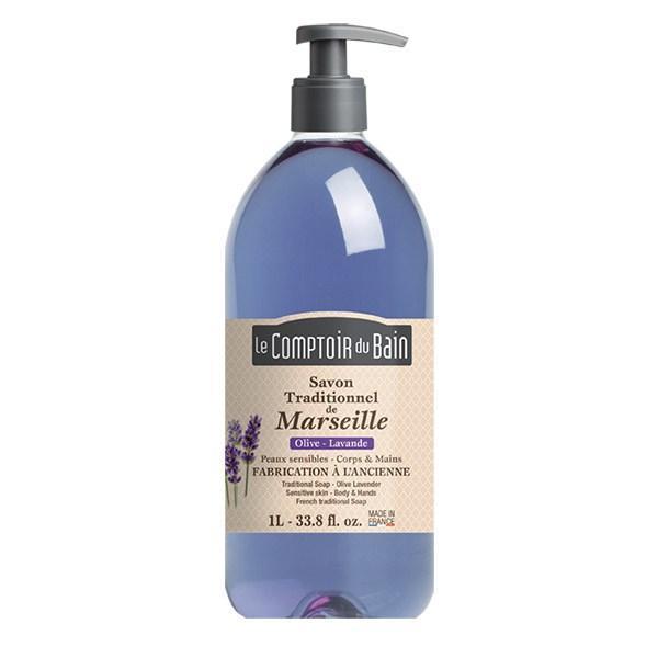 Le Comptoir du Bain Săpun de Marsilia Lavandă – Măslin 1000ml imagine produs