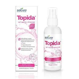 Spray tratament pt igiena intima Topida, infectii fungice, reglare PH, Salcura, 50 ml