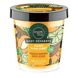Exfoliant Corporal Body Desserts Instant Renewal Mango Sugar Sorbet Organic Shop, 450ml