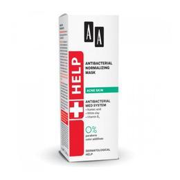 Masca antibacteriala si pentru normalizarea tenului acneic AA Help Antibacterial Normalizing Mask 40 ml