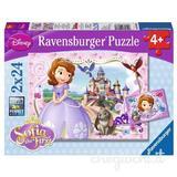 Puzzle printesa sofia, 2x24 piese - Ravensburger