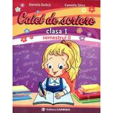 Caiet de scriere cls 1 semestrul 2 (a) - Daniela Dulica, Camelia Sima, editura Carminis