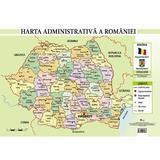 Harta administrativa a Romaniei - Plansa A4, editura Aramis