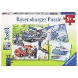 Puzzle politie, 3x49 piese - Ravensburger
