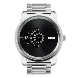 Ceas Barbatesc SKMEI B 101 fashion, cadran 5cm, argint