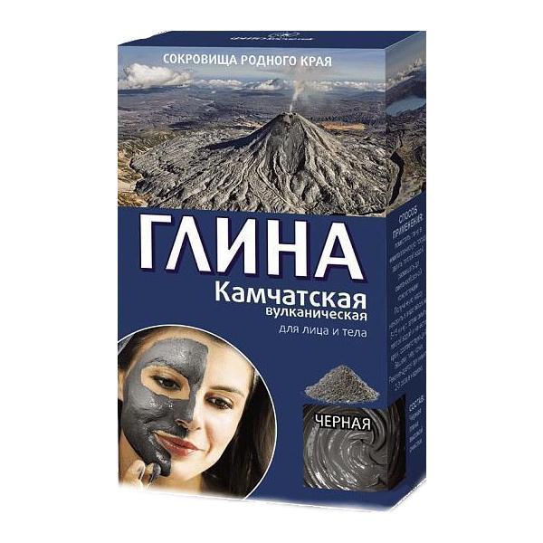 Argila Cosmetica Vulcanica Neagra din Kamceatka cu Efect de Lifting Fitocosmetic, 100g imagine produs