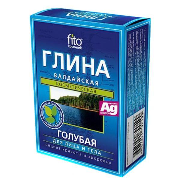 Argila Cosmetica Albastra din Valday cu Efect Rejuvenant Fitocosmetic, 100g imagine produs