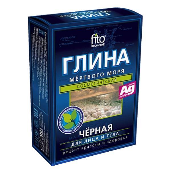 Argila Cosmetica Neagra de la Marea Moarta cu Efect Regenerant Fitocosmetic, 100g imagine produs