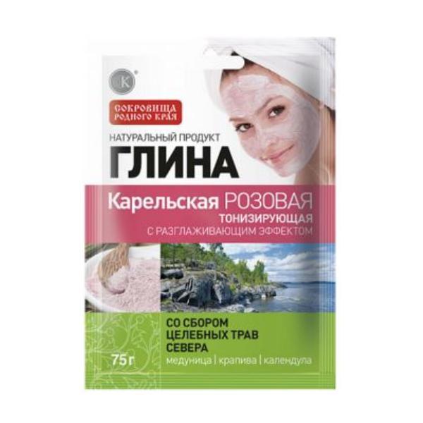 Argila Cosmetica Roz din Carelia cu Efect Tonifiant Fitocosmetic, 75g imagine produs