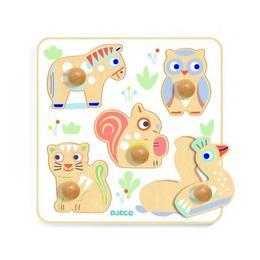Puzzle lemn babypuzzi - Djeco