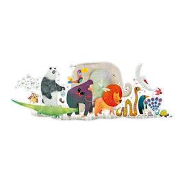 Puzzle gigant parada animalelor - Djeco