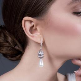 Cercei argint Pearl - Vavavoom