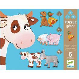 Puzzle gigant animale de fermă - Djeco