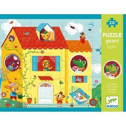 Puzzle optic djeco, casa veselă - Djeco