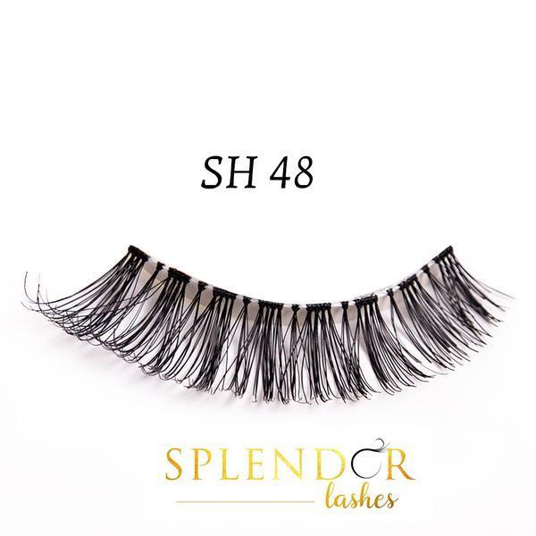 Gene false din par natural tip banda Splendor Lashes SH 48 imagine produs
