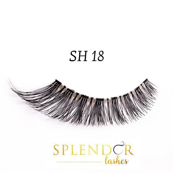Gene false din par natural tip banda Splendor Lashes SH 18 imagine produs