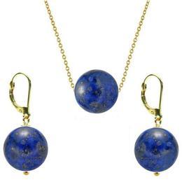 Set Aur 14 Karate si Lapis Lazuli de 12 mm