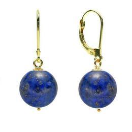 Cercei Aur 14 karate si Lapis Lazuli de 10 mm