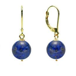Cercei Aur 14 karate si Lapis Lazuli de 8 mm