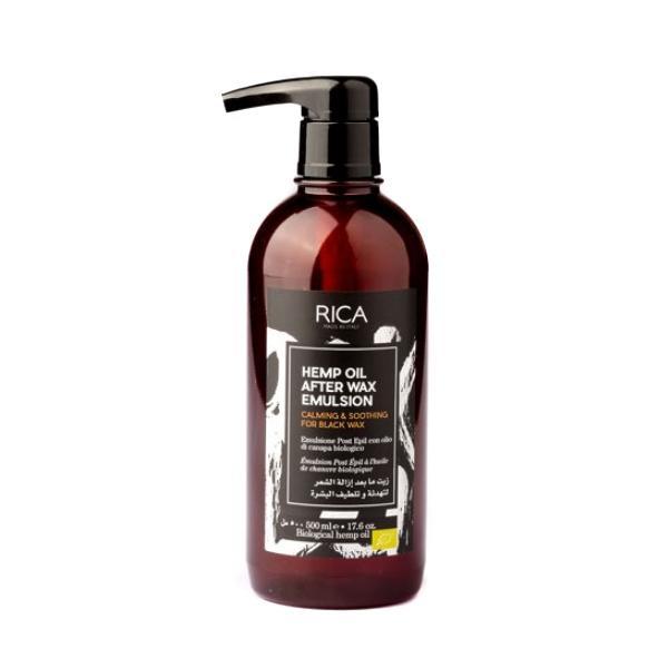 Emulsie Post Epilare cu Ulei de Canepa - RICA Hemp Oil After Wax Emulsion, 500ml imagine produs