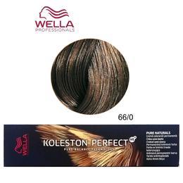Vopsea Crema Permanenta – Wella Professionals Koleston Perfect ME+ Pure Naturals, nuanta 66/0 Blond Inchis Intens de la esteto.ro