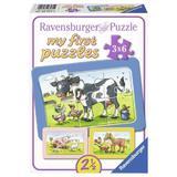 Puzzle animale prieteni, 3x6 piese - Ravensburger