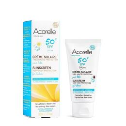 Cremă bio protecție solară bebe SPF50 Acorelle 50ml