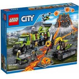 LEGO City 60124 - Baza de explorare a vulcanului pentru 8 - 12 ani