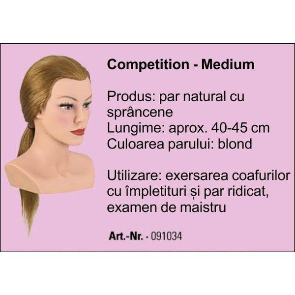 Manechin Professional Cu Par 100 Natural Bergmann Competion Medium