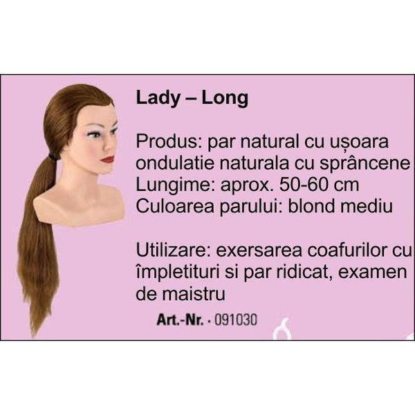 Manechin Professional Cu Par 100 Natural Junior Bergmann Lady Long