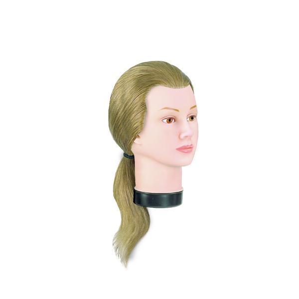 Manechin professional cu par 100 % natural Bergmann Teeny blond pentru tuns, vopsit, decolorare Cod 091013