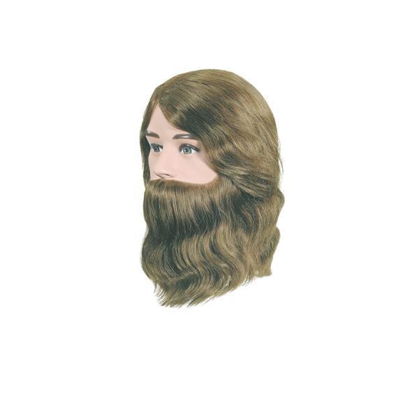 Manechin professional cu par 100 % natural Bergmann Boy cu barba pentru styling, tuns, examen, concurs Cod 094002