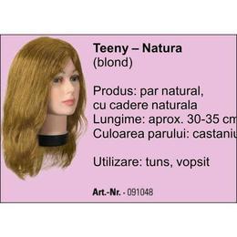 Manechin professional cu par 100 % natural Bergmann Teeny Natura Blond pentru tuns, vopsit Cod 091048