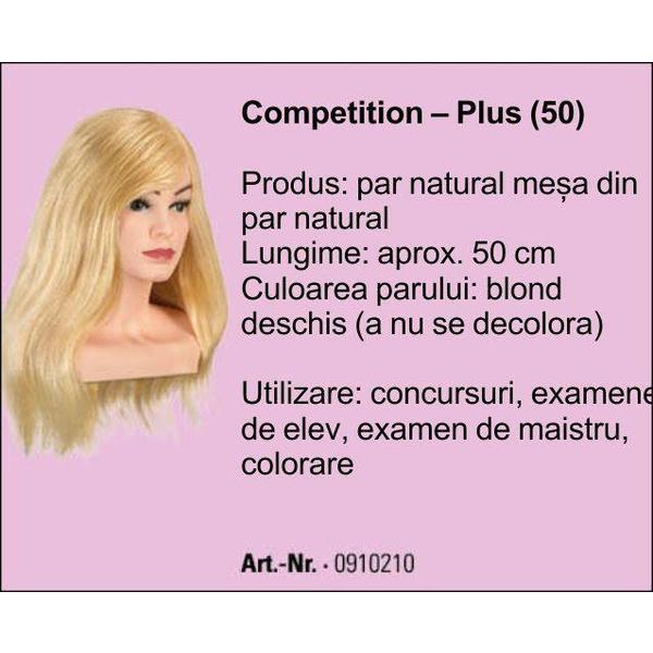 Manechin Professional Cu Par 100 Natural Bergmann Competion Plus