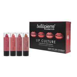 Set 4 rujuri minerale mate Lip Culture Matte - BellaPierre