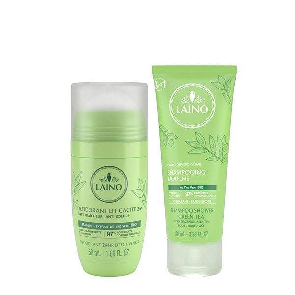 Pachet Laino Ceai Verde Deodorant 50 ml + Șampon ceai verde cadou 100 ml imagine produs